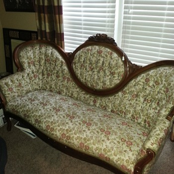 Can anyone tell me about this cherished love seat that belonged to my grandparents