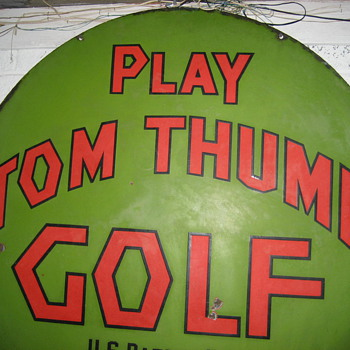 first miniature golf course sign. - Advertising
