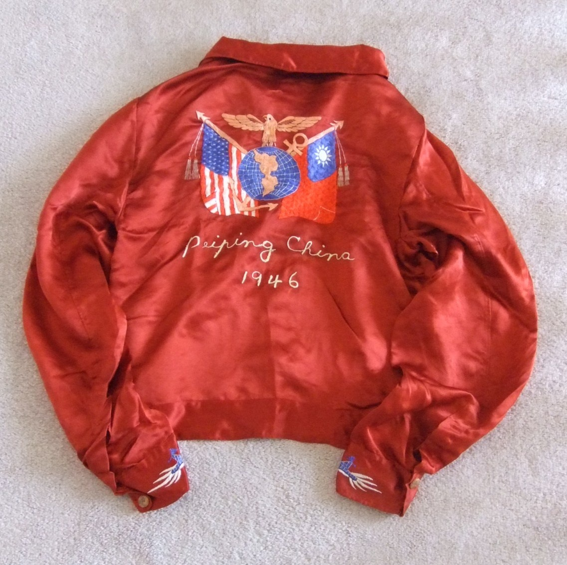 Embroidered usmc tour jacket c collectors weekly