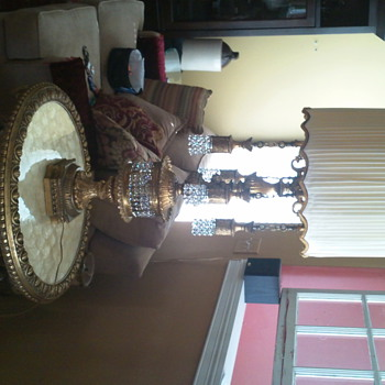 Ultra opulent lamp and companion table
