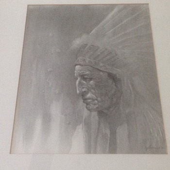 American Indian portrait  - Posters and Prints