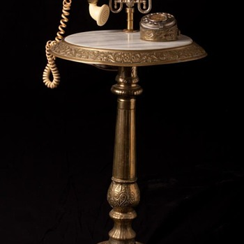 New brass and marble phone table - Telephones