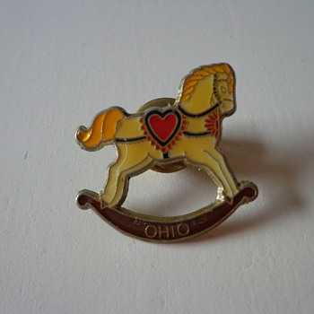 Vintage Rocking Horse Ohio Pin