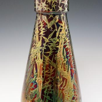 Large Dephin Massier Symbolist Ceramic Vase - Art Nouveau