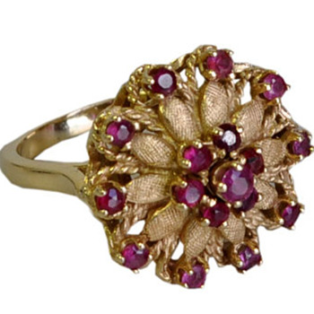 Flower Ruby Cocktail Ring - Fine Jewelry
