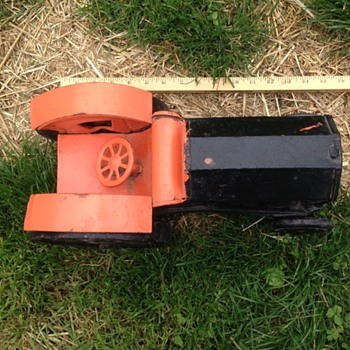 Old Toy Tractor or Folk Art