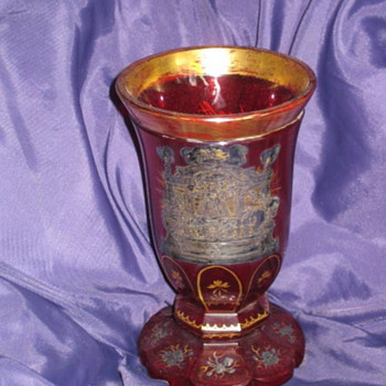 Gilt Crystal Goblet (religion) - Art Glass