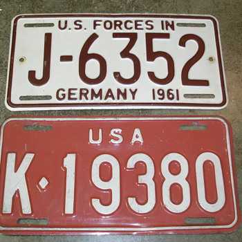 U.S. Forces In Germany License Plates - Signs