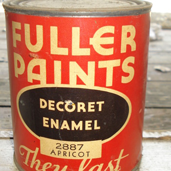 FULLER PAINTS DECORET ENAMEL 2887 APRICOT / PAMPHELET 1940&#039;s - Paper