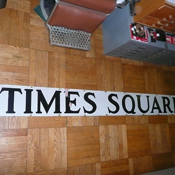 Vintage New York City Times Square Subway Station Sign