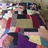 Patchwork Multi-Color Slik Panal Handmade Quilt Circa 1910 - Queen