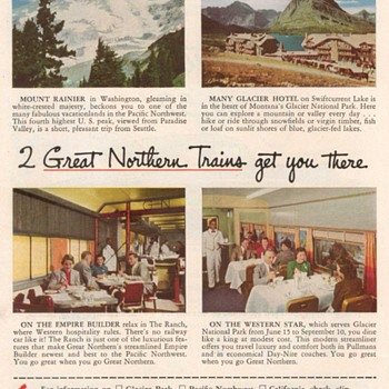 1952 - Great Northern Railway Advertisements - Advertising