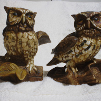 Ceramic Owl Figurines