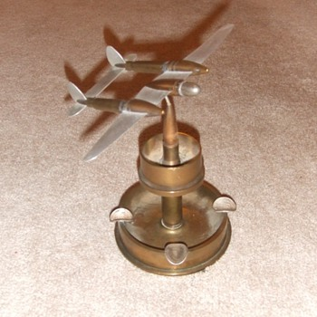 P-38 Trench art ashtray from WW2