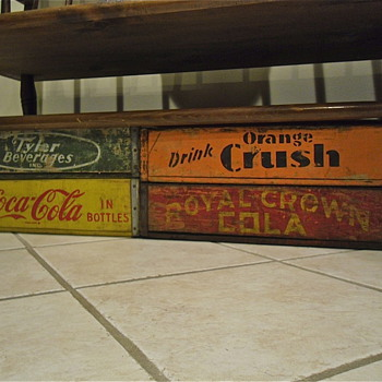 Orange Crush and Royal Crown Cola Crates Found - Advertising