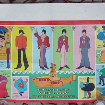 Beatles poster from ??? Is it original and does it have any value? - Music Memorabilia