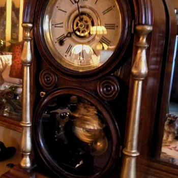 Ingraham Venetian Mantle/Shelf Clock  - Clocks
