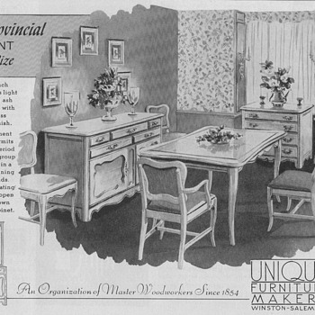 1950 Unique Furniture Advertisements