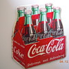 1954 Die-Cut Coca-Cola Six-Pack Sign 11&quot;x12&quot;