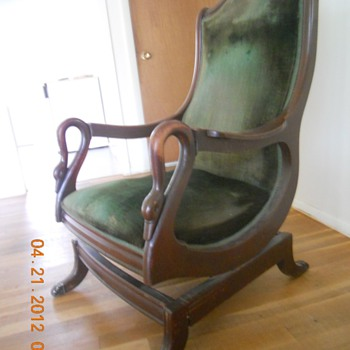 1840 - 1850 Rocking Chair seems to be all original...you tell me