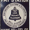 Maine Tel. & Tel. Co. Pay Station Sign