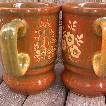 Stoneware mugs made in England