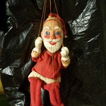antique santa puppet