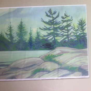 Canadian  watercolour by Nixon,, need help w/artist info