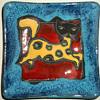 Marmaca Spotted Cat Kitten - Italian Pottery - San Marino