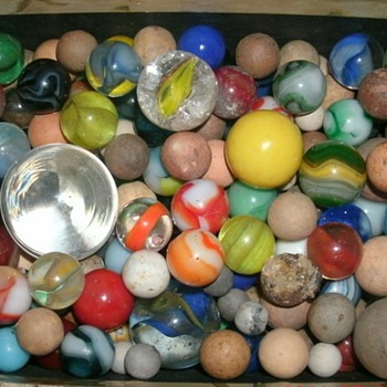 Assorted Marbles from Digging  - Games