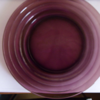 Purple Glass Dinner Plate - Glassware