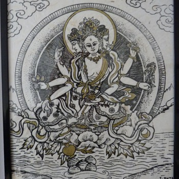 Small buddhist print.