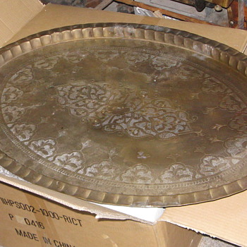 41&quot; Brass Tray made in Hong Kong - Asian