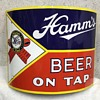 "Late 30's Hamm's Beer On Tap Porcelain Corner Sign ""After/Before"""