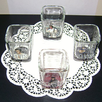 Elvis Presley Shot Glasses - Glassware