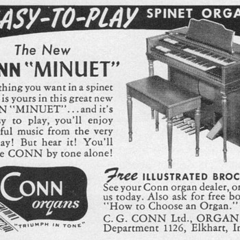 1955 - Conn Spinet Organ Advertisement - Advertising