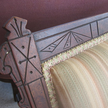 Mystery? What era is this rocker from? Spring platform.  - Furniture