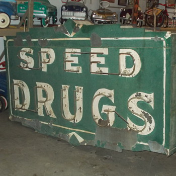 Late 1930's double sided neon sign