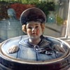 Antique Tobacco Jar - Sailor in Blue Barrel