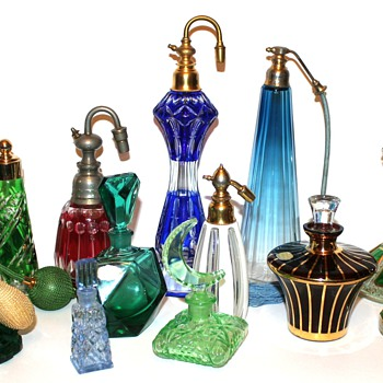 Colored Crystal & Glass Perfume Bottles