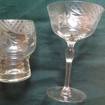 My great aunts glassware set