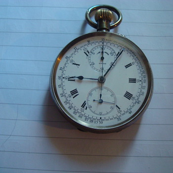 Silver enamelled stop watch