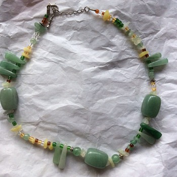 Stunning jade necklace