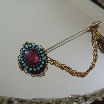 Hobe Pin, Copper with Tassel...1950's or 60's?