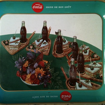 coca cola tray in french