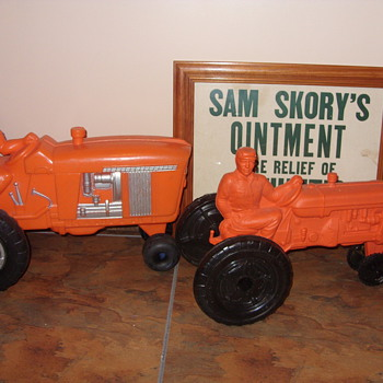 empire plastic mold tractors - Model Cars