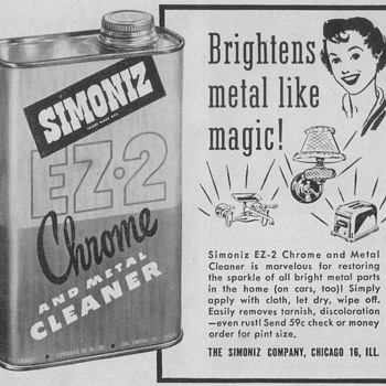 1950 Simoniz Polish Advertisement