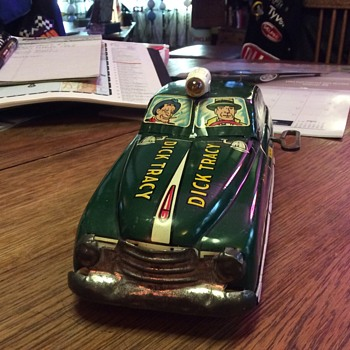 Original 1949 Dick Tracy Squad Car by MARX - Toys