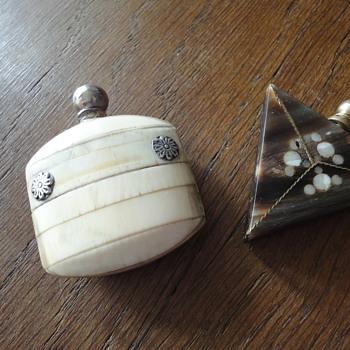 Two Antique parfum bottles