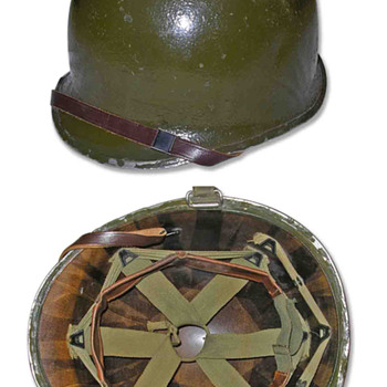 Second World War 78th Infantry Division helmet. - Military and Wartime